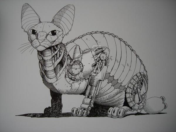 Cyber cat by puntotu