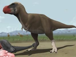 Pulp Tyrannosaurus rex by puntotu