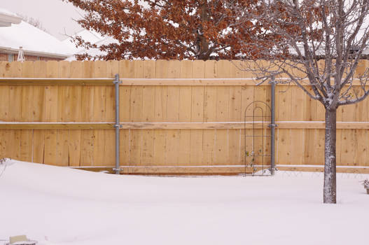 Fence in Snow 2
