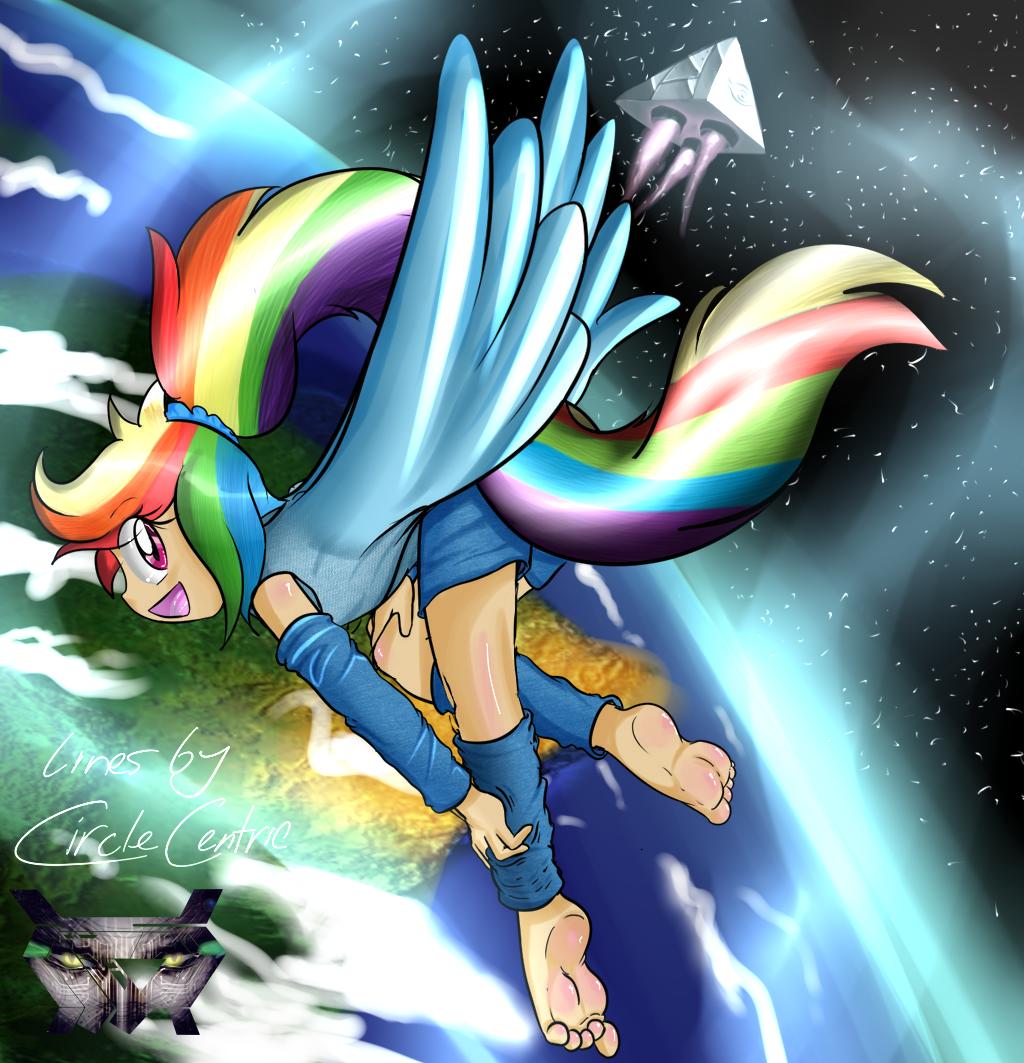 Rainbow Dash by tickleLabs