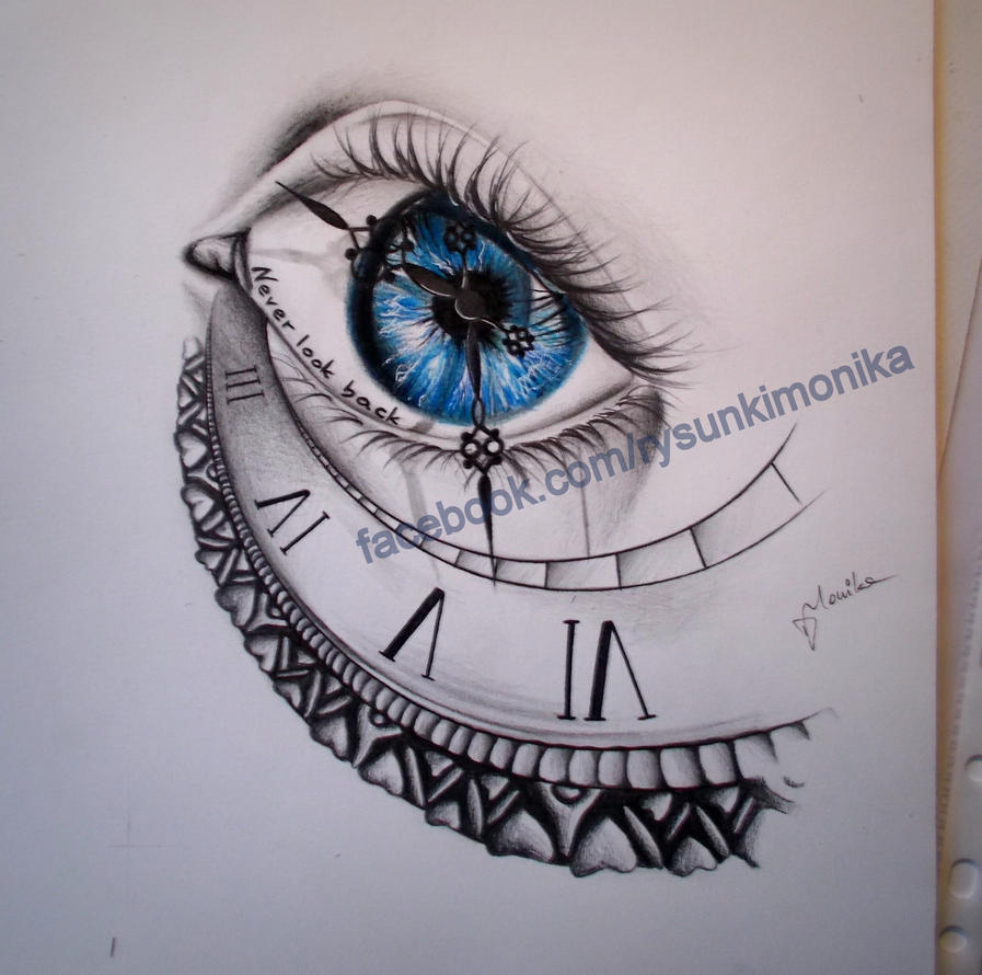 Clock and the blue eye by mydrawings11 on deviantart for Eye with clock tattoo