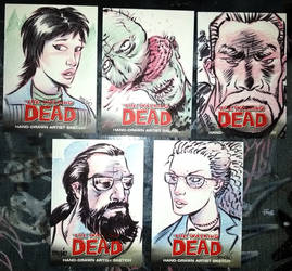 more WD sketch cards... by madmaglio