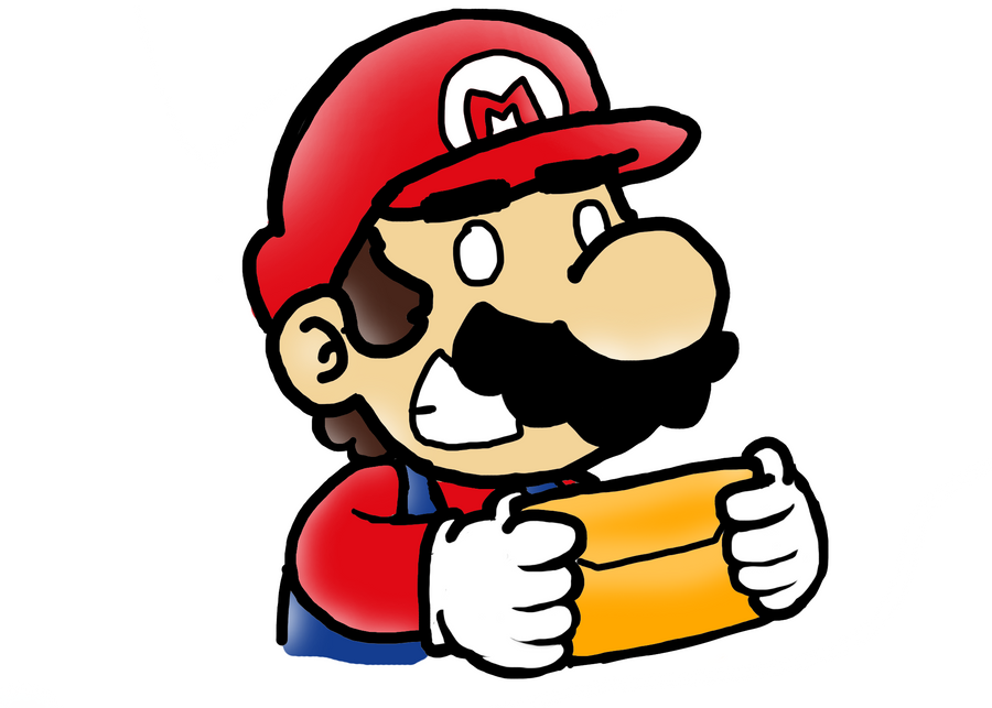 Mario with a letter