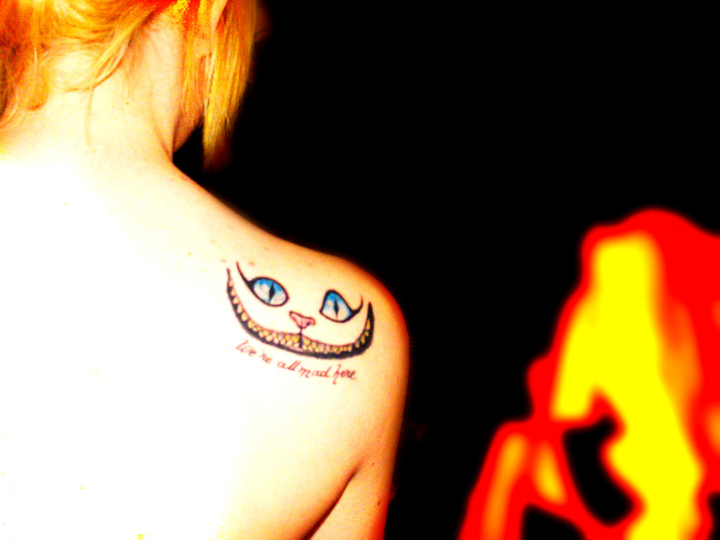 cheshire cat tattoo by galapagos23 on deviantart. Black Bedroom Furniture Sets. Home Design Ideas
