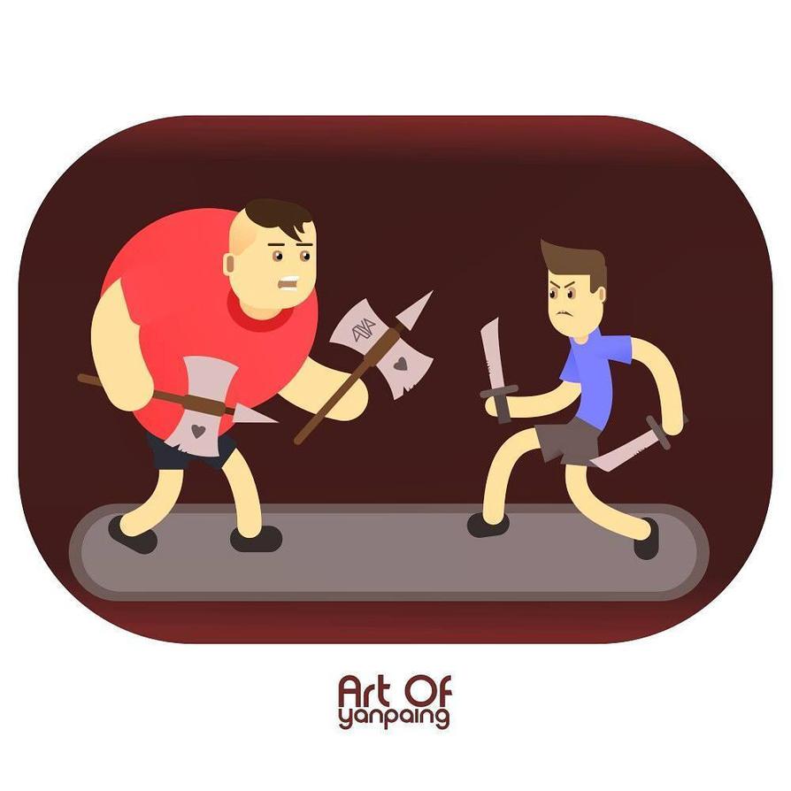 Wanna fight? by aoyp