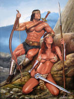 Conan and RedSonja by Comicsworld
