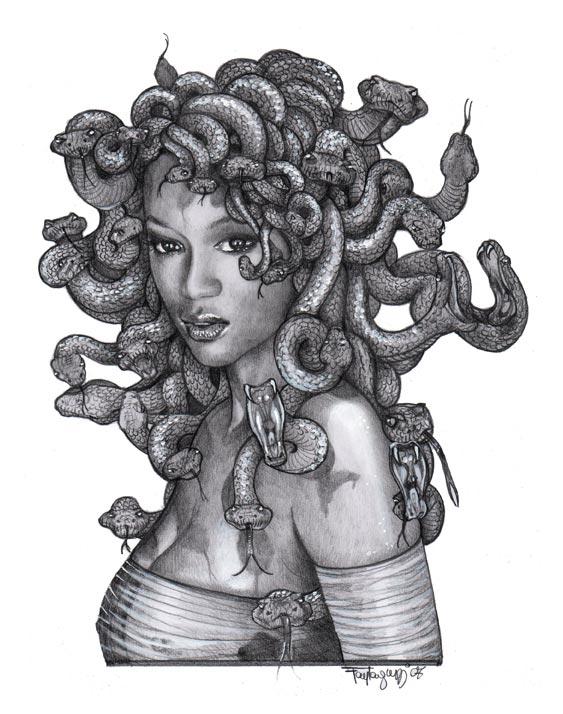 Black Medusa Tattoo: Medusa Tattoo, Greek Mythology And