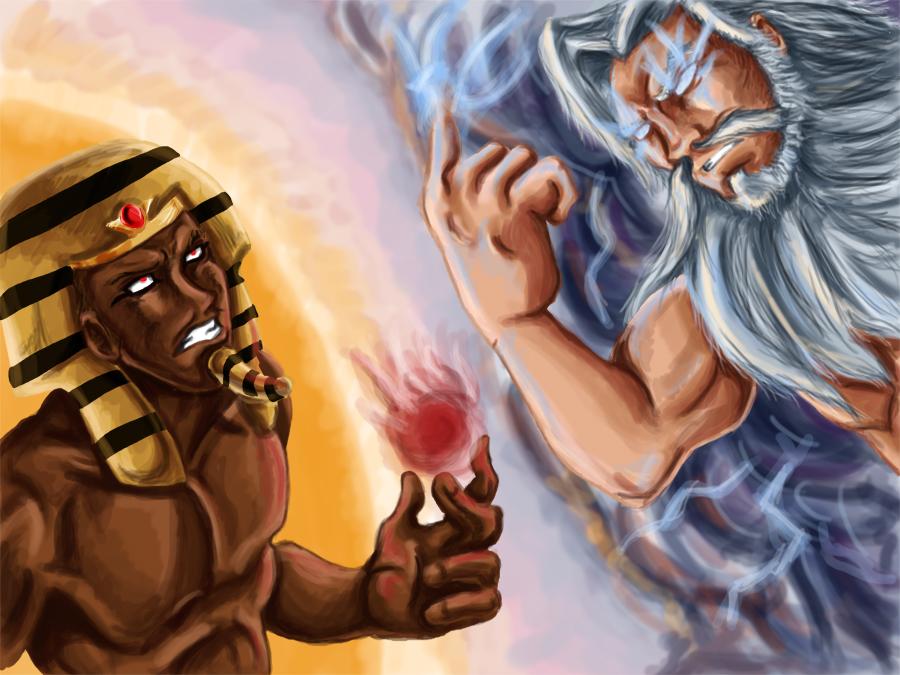 Ra VS Zeus by RedNoseDog on DeviantArt