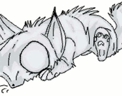 Omnom Creature Grayscale DWNLD by MademoiselleToxic