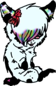 :Finished Jazzy's Emo Panda: by MademoiselleToxic