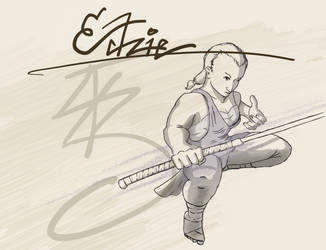 Edzie character illustration by symbot