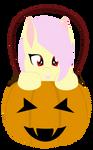 Flutterbat in a pumpkin bucket - Vector -Lineless by AllTimeMine