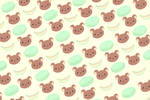 Cute background Bears and cantaloupes