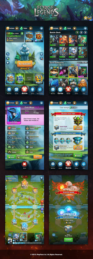 GUI/UX Forge Of Legends