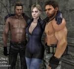 Jill, Chris and Wesker