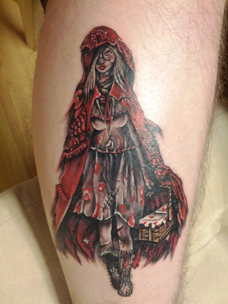 red riding hood tattoo by nyvz on deviantart. Black Bedroom Furniture Sets. Home Design Ideas