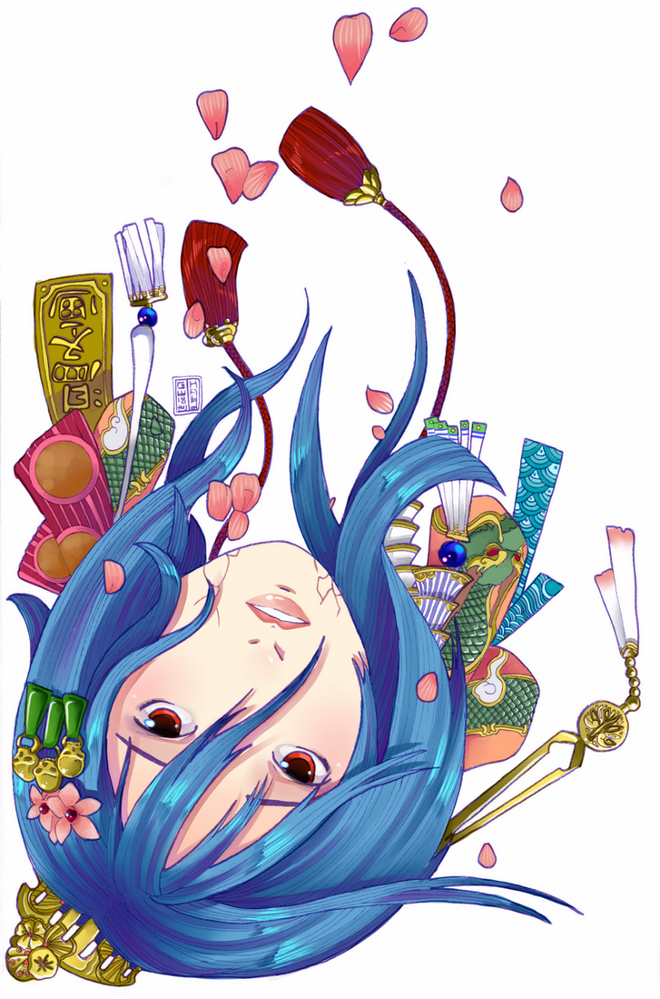 Beauty Suspended -colored- by HaruMaru-Shi