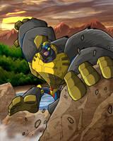 JT-blueart's Optimus Primal by MachSabre