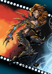 Randy Green's Witchblade colored by MachSabre