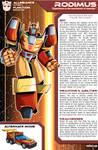 Transformers Planetary Bio: Rodimus