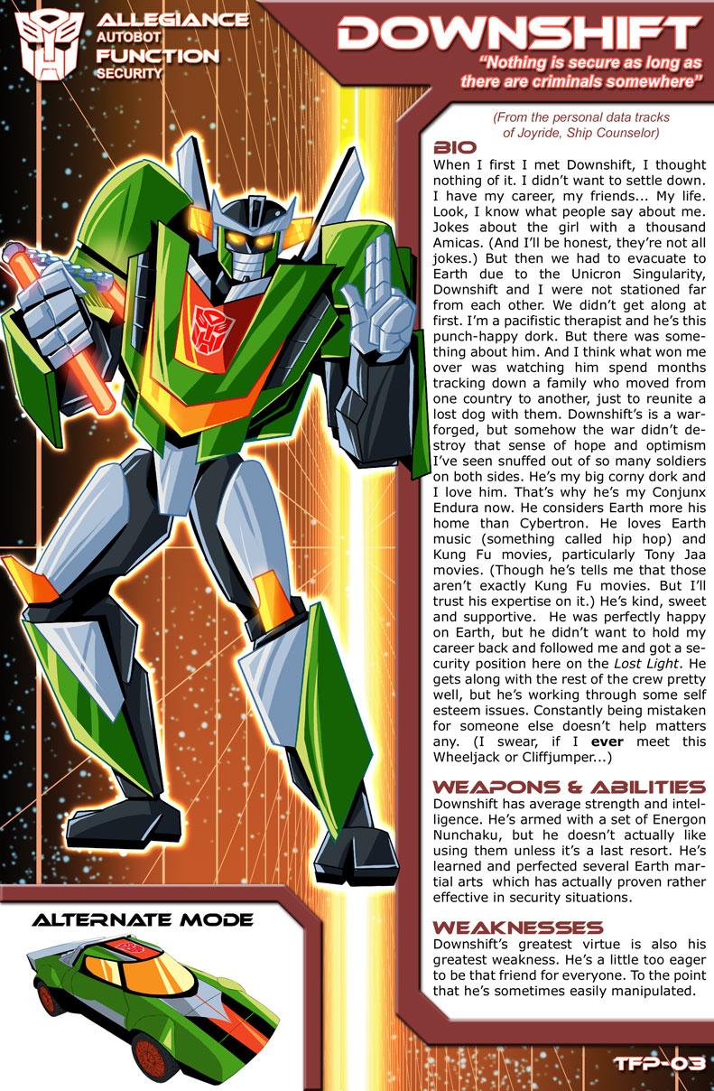 Transformers Planetary Bio: Downshift