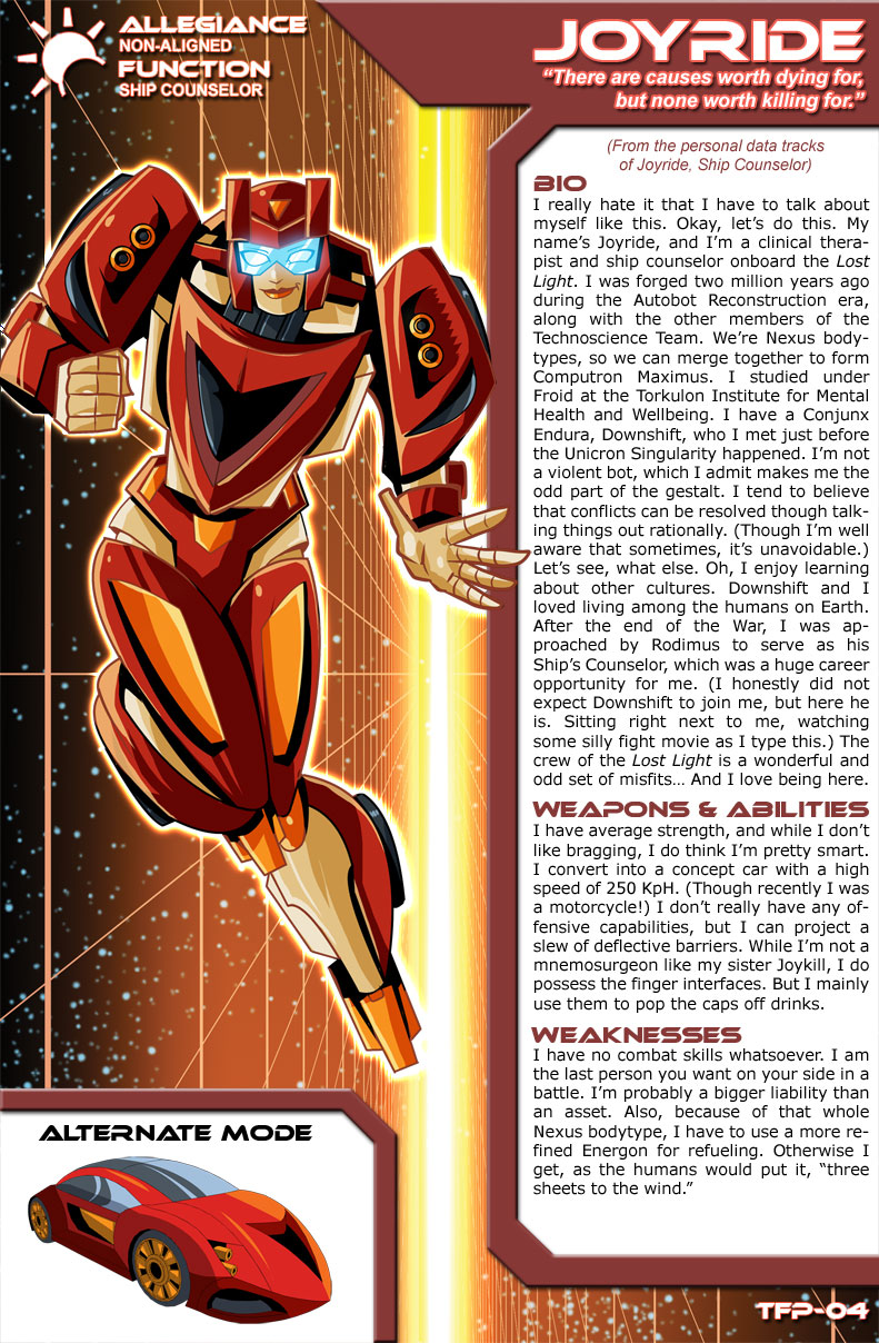 Transformers Planetary Bio: Joyride