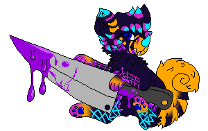 Synth holding a fucking knife