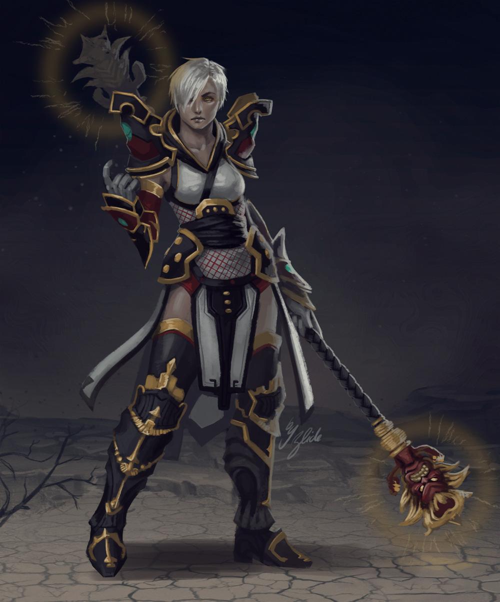 Diablo 3 - Monk by ZliDe on DeviantArt