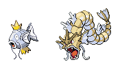 Alternate Magikarp and Gyarados (Retyped) by OswaldLunaire