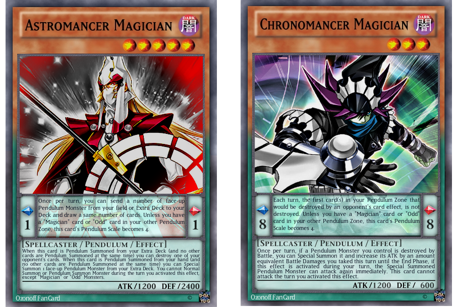 [FANCARDS] Astro and Chrono Pendulum Magicians by OswaldLunaire
