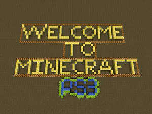 Welcome to Minecraft PS3
