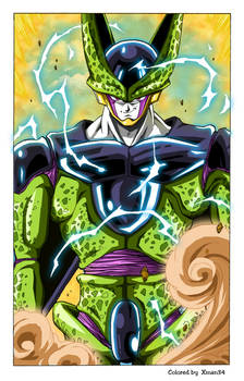 Cell - Toriyama Work - Corected colors and effects