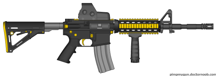 M-4 A1 Custom Yellow Zombie by ColtM4A2