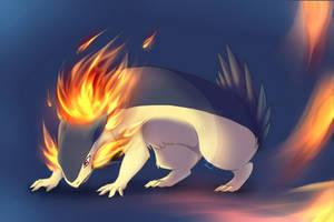 Typhlosion AKA fiery buttfloof by Bernouli