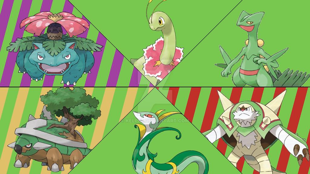 Grass Starter Pokemon Wallpaper Pokemon Grass Wallpape...