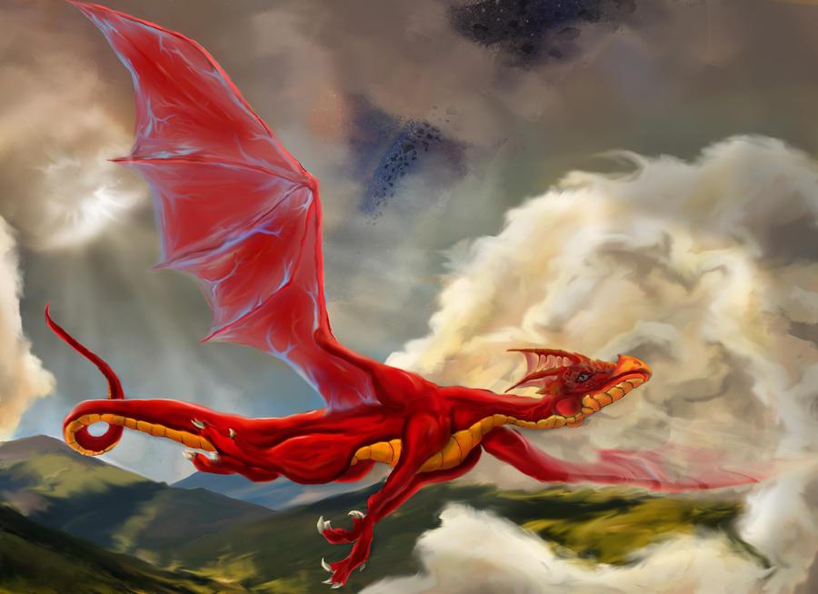 Soaring Dragon by MrEllimist