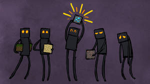 Minecraft - Endermen by Malliya