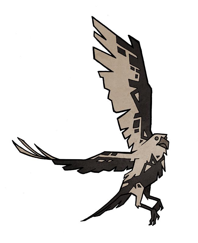 Piebald Crow by Malliya