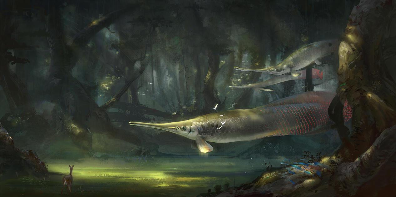 Forest Of Flying Fishess by BastaMarcin