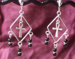 Ankh Earrings by BastsBoutique