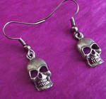 Pewter Skull Earrings