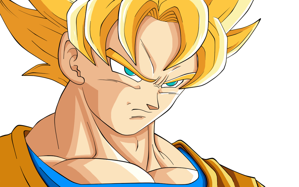 goku ssj face by lilsaintja on deviantart