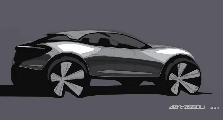 Pure Suv Concept Hand Sketch By Vicdert On Deviantart