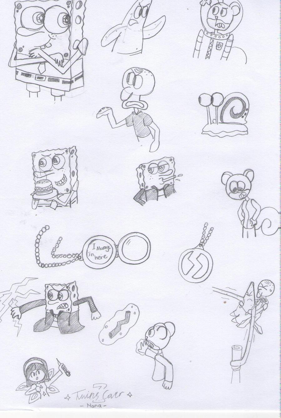 Uncategorized Sketch Of Spongebob sketch spongebob and friend by twinscover on deviantart twinscover