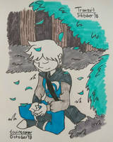 Inktober 2018 day 2 - Tranquil by twinscover