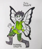 Inktober 2018 (2) day 3 - Fairy by twinscover