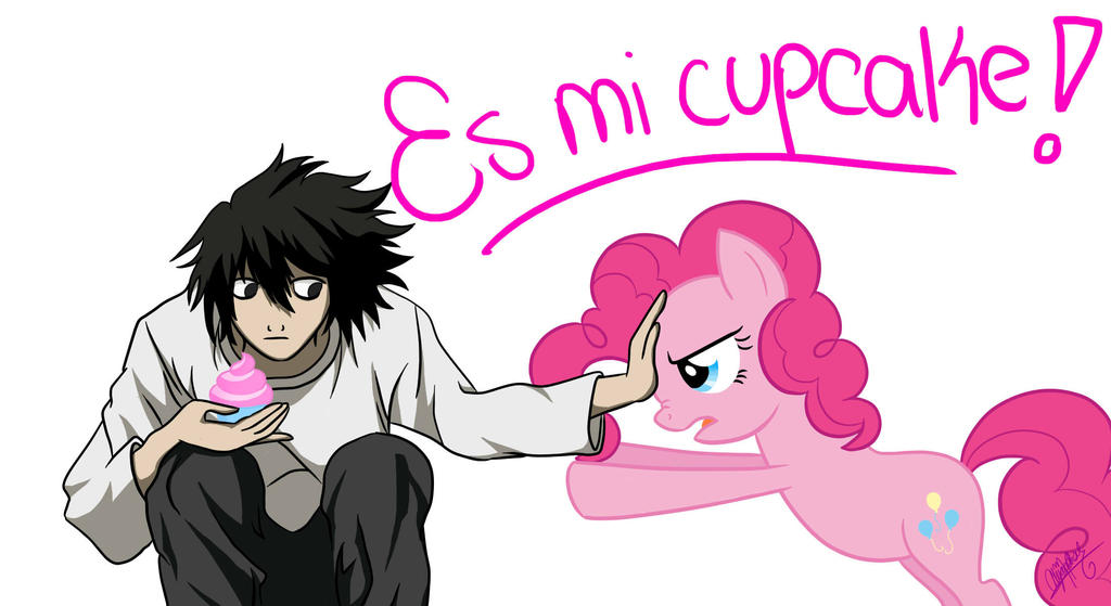 L vs Pinkie (It is my cupcake!) by Lady-Storytime