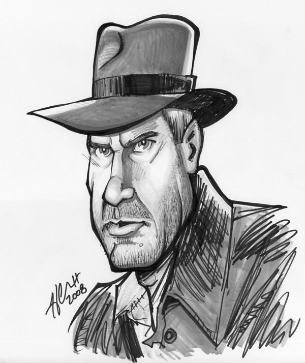 Indiana Jones Caricature by hcnoel