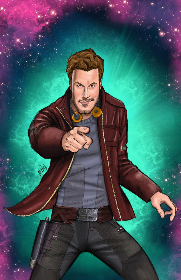 Star-Lord From Guardians of the Galaxy by hcnoel