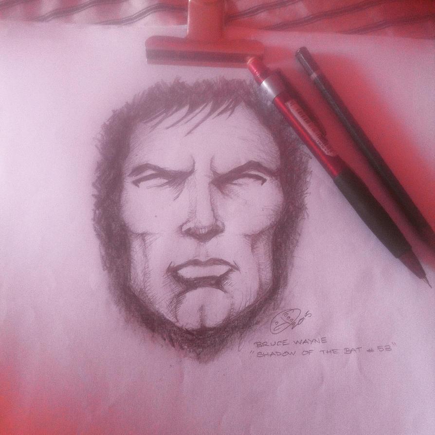 Bruce Wayne sketch by izboos